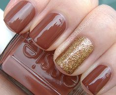 Another gorgeous brown nail polish for Autumn/Fall, this time Essie's Very Structured - it's lush!