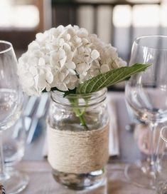Black and Pink Wedding Ideas single Hydrangea decor Wedding Centerpieces, Wedding Table, Diy Wedding, Rustic Wedding, Wedding Flowers, Dream Wedding, Wedding Decorations, Wedding Ideas, Elegant Centerpieces