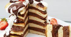Das sind die besten protein pancakes auf der welt 🙆  50 g Schmelzflocken  125 g magerquark  5 Eiklar Süßstoff & Zimt alles vermischen und...
