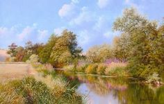 Graham Petley Direct River Otter at Ottery St Mary, Devon - Originals River Otter, Throughout The World, Otters, Devon, Impressionist, Britain, Country Roads, Mary, Fine Art