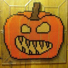 Halloween pumpkin perler beads by bmachado13