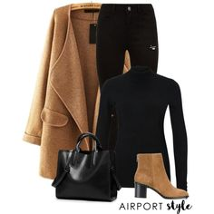 A fashion look from January 2018 featuring WithChic coats and rag & bone ankle booties. Browse and shop related looks.