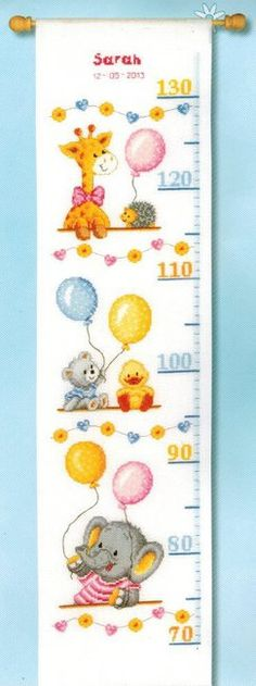 Baby Shower Growth Chart - Cross Stitch Kit