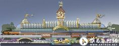 Tim Delaney—Train Station concept art (for unknown project, possibly early Shanghai Disneyland artwork)