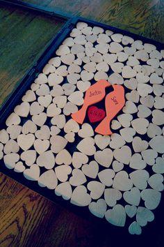 Alternative Wedding Guest Book -Wood Heart Guestbook - Love Bird Wedding - Original Personalized Custom Guestbook on Etsy, $160.00