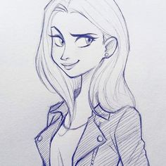 Cameronmarkart Art Design Illustration Drawing Girl Sketch Pin On Art How To Draw A Pretty Girl Cartoon Step By Step Cartoon Drawings Of People, Cartoon Girl Drawing, Manga Drawing, Disney Drawings, Girl Cartoon, Drawing People, Sketch Drawing, Drawing Ideas, Drawing Faces