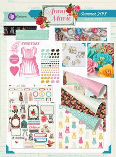 Presenting the Anna-Marie Collection by Prima! This beautiful line can be seen on our blog! www.prima.typepad.com