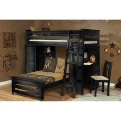 Laguna Blk Loft Bed for the kids Bunk Beds Small Room, Loft Bunk Beds, Kids Bunk Beds, Living Spaces Furniture, Big Girl Rooms, Kids Rooms, Boy Rooms, Loft Spaces, Bed Styling