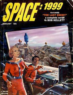 Space 1999 / Atompulp covers mash=ups… Sci Fi Books, Sci Fi Movies, Science Fiction Books, Pulp Fiction, Classic Sci Fi, Comic Covers, Book Covers, Vintage Comics, Journey