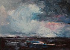 Winternacht / Öl auf Leinwand / 50 x 70 cm / 2017 /  Detlev Foth