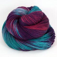 Hand Dyed Superwash Wool Fingering/Sock Yarn  by LunaGreyFiberArts, $17.00