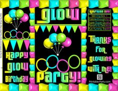 ddd485fac1 Printable Chip Bags | Treat Favor Bags | Glow In The Dark Theme | Birthday.  Pretzel BagsChip BagsNeon PartyPotato ...