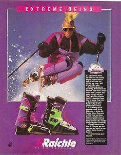 80s ski advertisement.
