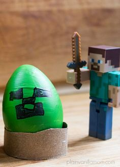 Decorating Minecraft Easter Eggs - Plain Vanilla Mom