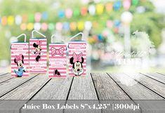 Minnie Juice Box Labels Minnie Juice Box Wraps Printable