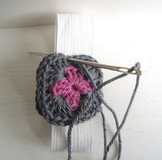Elastic band with crochet application
