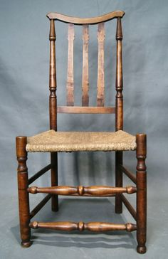 Antiques and Collectibles - 19th Century American Rush Chair