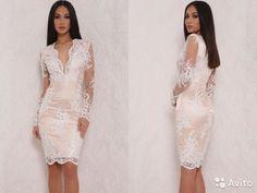 Милое белое кружевное платье