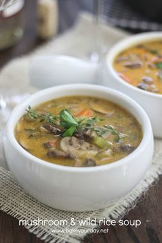 Mushroom & Wild Rice Soup   Bake Your Day