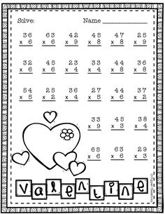 Need extra practice with multiplication? This set includes 10 pages of 2 digit by 1 digit multiplication with regrouping practice. An answer key for each page is included. Thanks for stopping by Copper Classroom. Two Digit Multiplication, Multiplication Worksheets, School Worksheets, Math Stations, Math Centers, Teacher Tools, Elementary Math, Teacher Resources, Math Lessons