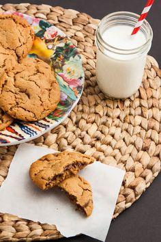 Nutella Stuffed Peanut Butter Cookies {Gluten Free} - The Corner Kitchen