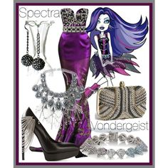 """Spectra Vondergeist"" by alittletoulouse on Polyvore"