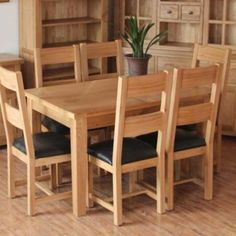 Bộ bàn ăn gỗ cao su 6 ghế Rubber
