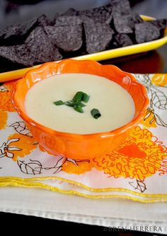 Homemade cheese sauce/dip using Mexican queso fresco. #SuperBowl
