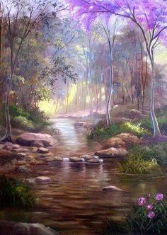 by Maneco Araújo 2013 Watercolor Landscape, Landscape Art, Landscape Paintings, Watercolor Art, Pictures To Paint, Nature Pictures, Beautiful Paintings, Beautiful Landscapes, Fine Art