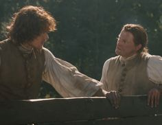 """Ian Murray (Steven Cree) and Jamie (Sam Heughan) in """"The Watch"""" of Outlander on Starz via http://outlander-online.com/2015/05/03/1370-uhq-1080p-screencaps-of-episode-1x13-of-outlander-the-watch/"""