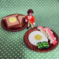 3D Breakfast perler beads by tomochintomochin