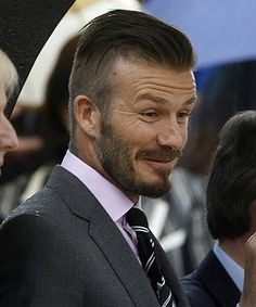 David Beckham's new hair style. Z should try this look