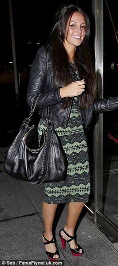 Michelle Keegan carries her Onna Ehrlich Rachel bag!