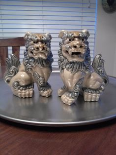 Vintage Ceramic Chinese Foo Dogs. Guardian by housedeAlcancotes, $60.00