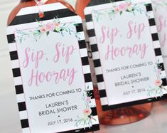 Bridal Shower Favor Tags for Mini Wine Bottles, Wedding Favors, Mini Champagne Tags, Personalized Wedding Tags Greenery Leaf - Set of 12 Mini Champagne Bottles, Mini Wine Bottles, Wedding Wine Bottles, Wedding Tags, Wedding Favors, Wedding Ideas, Wedding Parties, Wedding Inspiration, Wedding Gifts