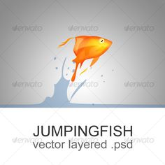 The jumping fish - Animals #Illustrations Download here: https://graphicriver.net/item/the-jumping-fish/79270?ref=alena994