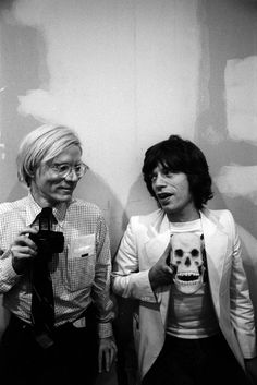 Buy this Andy Warhol and Mick Jagger print today at Morrison Hotel Gallery. Warhol poses with with a camera while Mick Jagger holds a skull replica. Louise Brooks, Disco Party, Pop Art, Looks Black, Black And White, Art Marilyn Monroe, Foto Poster, Foto Casual, Portraits