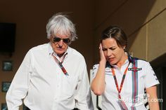 Bernie Ecclestone, with Claire Williams, Williams Deputy Team Principal at Bahrain GP High-Res Professional Motorsports Photography Force India, Martini Racing, Red Bull Racing, Formula One, Claire, Mans, The Incredibles, Grand Prix, Patience