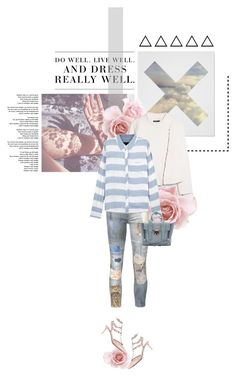 """Patchwork Denim"" by kitti-takacs ❤ liked on Polyvore featuring Twenty, Levi's, MANGO, Mother, Rails, 3.1 Phillip Lim, Valentino and patchworkdenim"