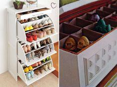 Como organizar seus sapatos com pouco espaço