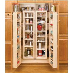 Rev-A-Shelf Swing-Out Tall Kitchen Cabinet Chef's Pantries | KitchenSource.com #kitchensource #pinterest #kitchenstorage #cabinetstorage