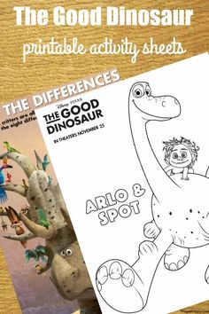 Disney Pixar s The Good Dinosaur Free Printables (Coloring Sheets f1cc3aa748