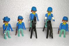 Geobra Playmobil Vintage Cavalry Soldiers Geobra Figures 1974 by DutchTrader on Etsy