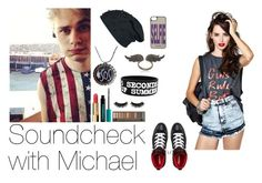 """""""Soundcheck with Michael"""" by infinitive-one-direction ❤ liked on Polyvore featuring Converse, Boohoo, Chanel, Urban Decay, Juicy Couture and Anita Ko"""