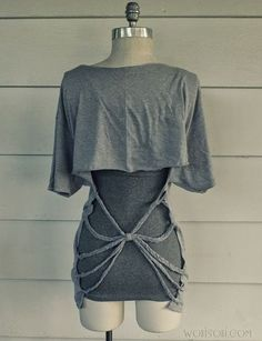 I Love To Create: Back Braided Tee. http://ilovetocreateblog.blogspot.com.ar/2014/05/i-love-to-create-back-braided-tee.html