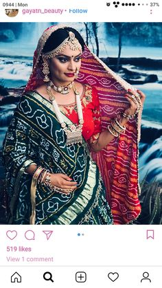 49 ideas gujarati bridal look Indian Bridal Fashion, Indian Bridal Makeup, Indian Bridal Wear, Indian Wedding Outfits, Wedding Lehenga Designs, Wedding Lehnga, Designer Bridal Lehenga, Bridal Dress Design, Bridal Blouse Designs