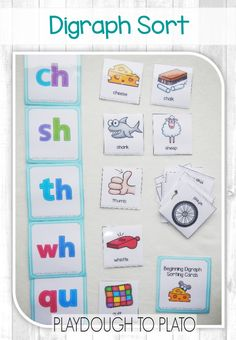 Activity for ages 5 to Once kids learn stand alone letter sounds, they're ready to tackle digraphs – two letter combinations that make just one sound like th Phonics Reading, Teaching Phonics, Phonics Activities, Kindergarten Literacy, Teaching Reading, Guided Reading, Word Work Activities, Jolly Phonics, Comprehension Activities