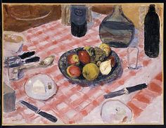 The Checkered Tablecloth  Pierre Bonnard (French, Fontenay-aux-Roses 1867–1947 Le Cannet)