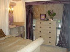 Nursery in bedroom.