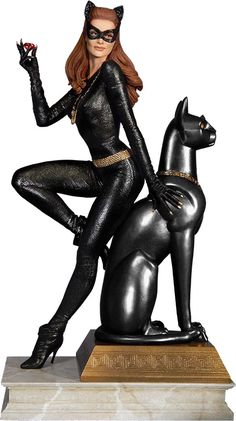 Rubies are a girl's best friend with the Catwoman Ruby Edition Variant Maquette.  Julie Newmar's purrrfect feline femme fatale is all about the shiny on this approximately 12-inch-tall statue that features the classic character from the 1960s Batman television series wearing her iconic outfit whil